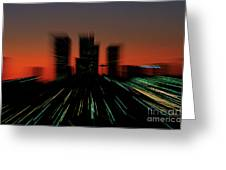 Seattle Skyline Motion Greeting Card