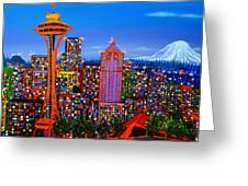 Seattle Space Needle 5 Greeting Card