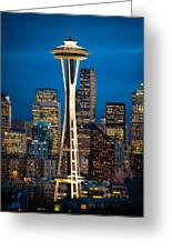 Seattle Space Needle Greeting Card