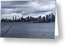 Seattle Sun Breaks Greeting Card