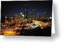 Seattle Zooming C087 Greeting Card