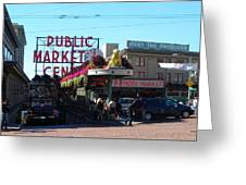 Seattle's Pike Place Market Center  Greeting Card