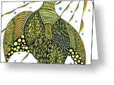 Seaturtle  Greeting Card by Barbara McConoughey