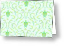 Seaturtlepattern3 Greeting Card