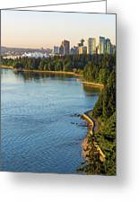 Seawall Along Stanley Park In Vancouver Bc Greeting Card