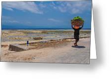 Seaweed Farmer Greeting Card