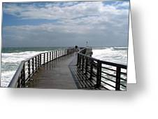 Sebastian Inlet On The Atlantic Coast Of Florida Greeting Card