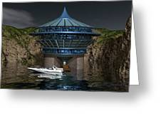 Secluded Condo On The Water Greeting Card