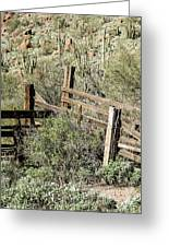 Secluded Historic Corral In Sonoran Desert Greeting Card
