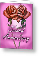 Second Anniversary Greeting Card
