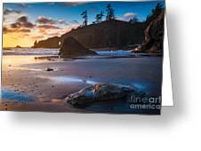 Second Beach Sunset Greeting Card
