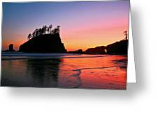 Second Beach Sunset Greeting Card