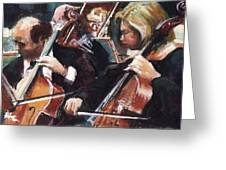 Second Cellos Greeting Card