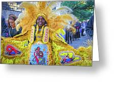 Second Line Nola _ Painted Greeting Card