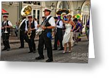 Second Line Wedding On Bourbon Street New Orleans Greeting Card