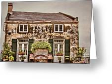 Second Story Cottage Greeting Card