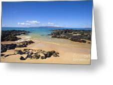 Secret Beach Of Kahoolawe And Molokini Greeting Card