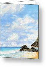 Secret Beach Sky Greeting Card