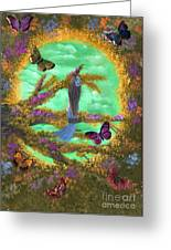 Secret Butterfly Garden Greeting Card