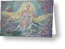 Secret Garden Angel 3 Greeting Card
