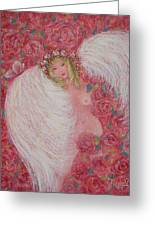 Secret Garden Angel 6 Greeting Card