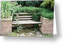 Secret Garden Bench Greeting Card