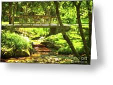 Secret Garden Bridge Greeting Card