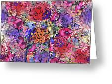 Secret Garden Flowers Greeting Card