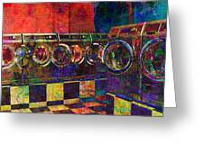 Secret Life Of Laundromats Greeting Card