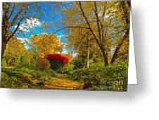 Secret Path At Lafayette Park Landscape Greeting Card
