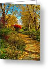 Secret Path Fall Perfection  Greeting Card