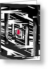 Secret Red Door Greeting Card by Gerlinde Keating - Galleria GK Keating Associates Inc