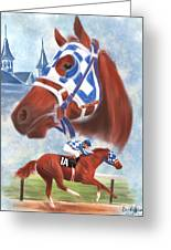 Secretariat Racehorse Portrait Greeting Card