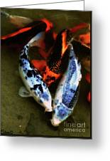 Secrets Of The Wild Koi 10 Greeting Card