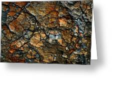 Sedimentary Abstract Greeting Card