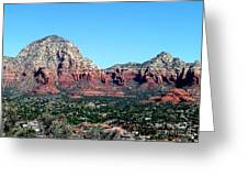 Sedona Arizona City Scape Greeting Card