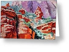 Sedona Arizona Rocky Canyon Greeting Card