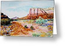 Sedona Bound Greeting Card by M Diane Bonaparte