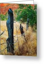 Sedona Fence And Field Greeting Card