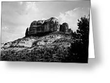 Sedona In Black And White Greeting Card
