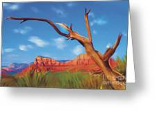 Sedona Red Rock Country Greeting Card by Bob Salo