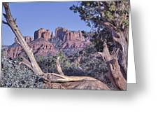 Sedona Red Rocks Framed Greeting Card