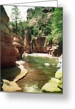 Sedona River Rock Oak Creek Greeting Card