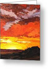 Sedona Sunset 2 Greeting Card by Sandy Tracey