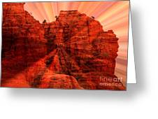 Sedona Sunset Energy - Abstract Art Greeting Card