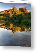 Sedona Sunset Greeting Card by Mike  Dawson