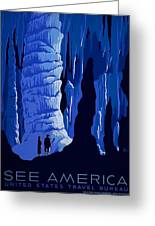 See America, Inside Cave Greeting Card