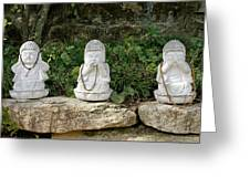 See Hear Speak No Evil Greeting Card