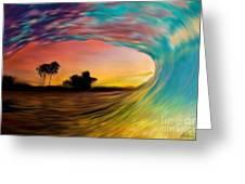 See Thru Wave Greeting Card