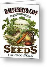 Seed Company Poster, C1800 Greeting Card